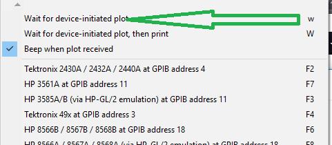 Using ke5fx HP 7470 plotter emulator with a 54659B module on a